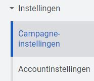 campagne-instellingen